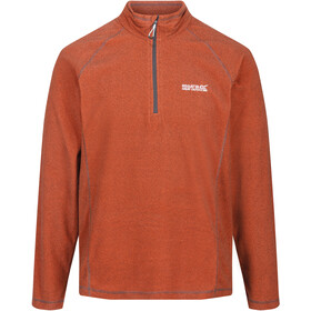 Regatta Montes Fleece Longsleeve Heren, burnt salmon